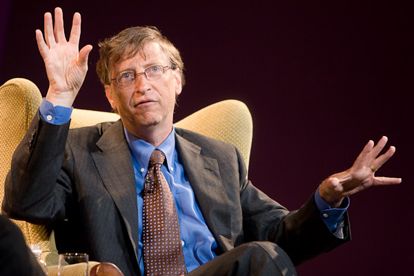 Bill Gates, chairman of Microsoft